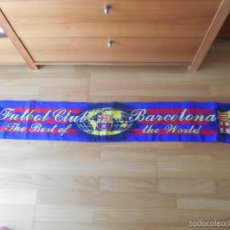 Coleccionismo deportivo: BUFANDA FC, BARCELONA THE BEST OF THE WORLD. Lote 56091689