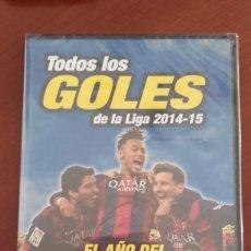 Coleccionismo deportivo: DVD PRECINTADO TODOS LOS GOLES DE LA LIGA 2014-15 EL AÑO DEL TRIDENTE BARÇA FÚTBOL CLUB BARCELONA. Lote 87312839