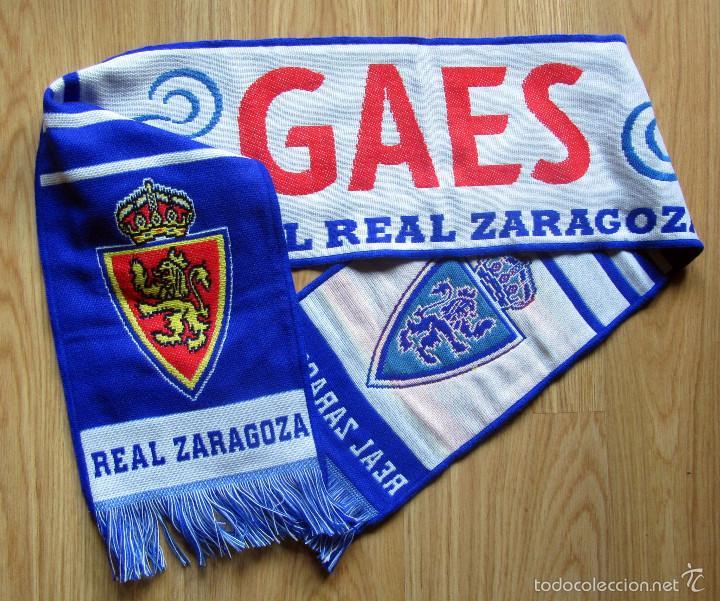 BUFANDA SCHIARPE SCARF FUTBOL FOOTBALL CALCIO REAL ZARAGOZA GAES (Coleccionismo Deportivo - Merchandising y Mascotas - Futbol)