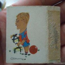 Coleccionismo deportivo: FUNDA CAJA CERILLAS CERILLOS FOSFOROS 1959 -60 FUTBOL CLUB BARCELONA ZALDUA . Lote 57253402