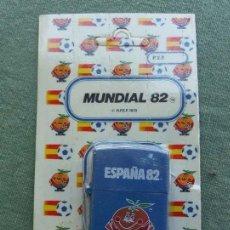 Coleccionismo deportivo: ENCENDEDOR - MECHERO MUNDIAL DE FUTBOL 82 - NARANJITO - DE TUKO AL - LA SA DE MADRID - AZUL. Lote 71133029