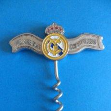 Coleccionismo deportivo: SACACORCHOS DEL REAL MADRID - PRODUCTO OFICIAL - WE ARE THE CHAMPIONS. Lote 57438726