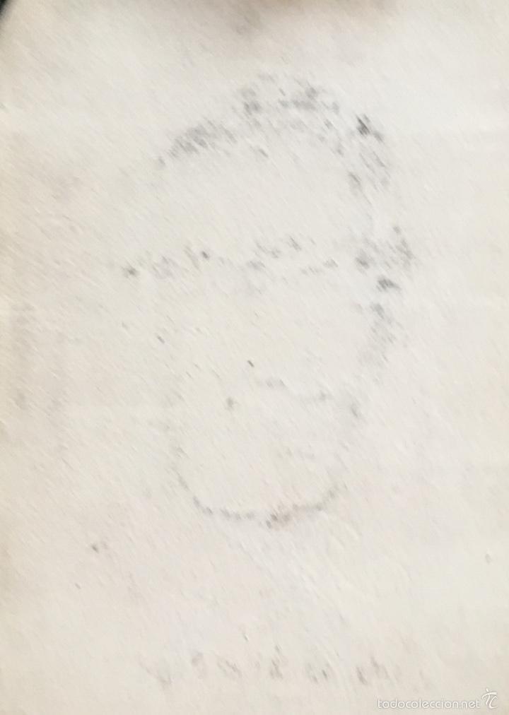 Coleccionismo deportivo: Retrato futbolista Mujica atletico de Madrid original Obra Alfredo enguix ,excelente trazo años 50 - Foto 5 - 57809242
