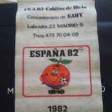 Coleccionismo deportivo: CALENDARIO PUBLICITARIO DE PARED ESPAÑA 82, NARANJITO. Lote 57838311