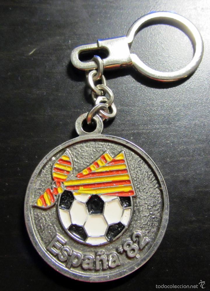 LLAVERO KEYRING ZARAGOZA SEDE MUNDIAL FUTBOL ESPAÑA 1982 FIFA WORLD CUP SPAIN (Coleccionismo Deportivo - Merchandising y Mascotas - Futbol)