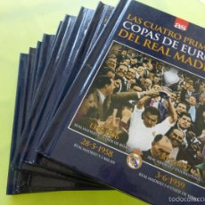 Coleccionismo deportivo: REAL MADRID - COLECCIÓN COPAS DE EUROPA LIBRO + DVD EDITADO POR PERIÓDICO AS - 9 EJEMPLARES. Lote 180177642