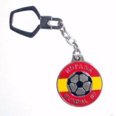 Coleccionismo deportivo: LLAVERO KEYRING MUNDIAL DE FUTBOL ESPAÑA 82 WORLD CUP FOOTBALL SPAIN 82 VINTAGE.. Lote 58408999