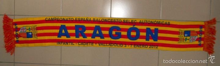 BUFANDA SCARF BALONCESTO BASKETBALL SELECCION ARAGON CAMPEONATO ESPAÑA BASKET (Coleccionismo Deportivo - Merchandising y Mascotas - Futbol)