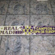 Coleccionismo deportivo: BUFANDA R.MADRID, CAMPEONES COPA EUROPA 1998. Lote 61613912