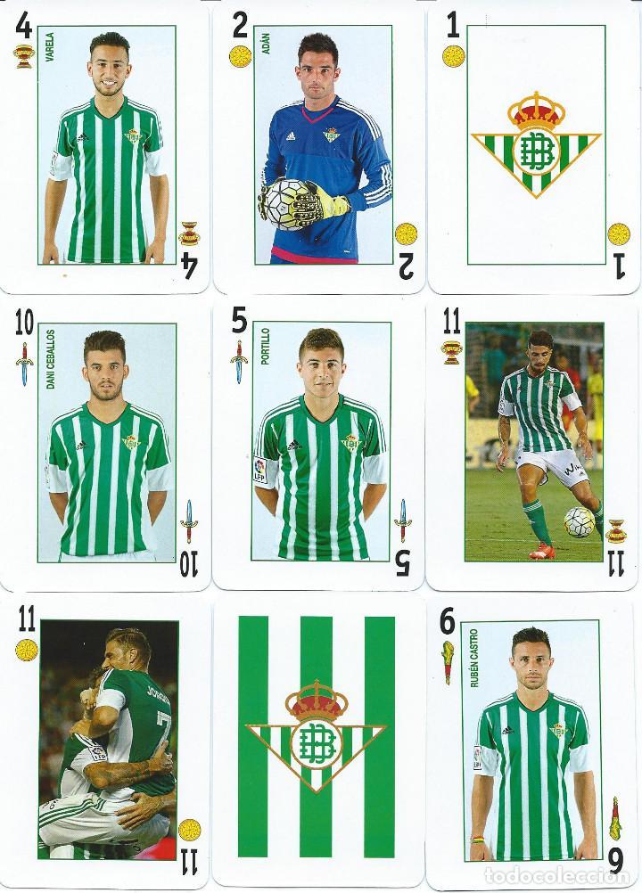 BARAJA ESPAÑOLA REAL BETIS BALOMPIE (Coleccionismo Deportivo - Merchandising y Mascotas - Futbol)