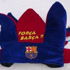 Coleccionismo deportivo: GORRO SEIS PUNTAS FORÇA BARÇA - BARCA COLLECTION - F. C. BARCELONA 57 CM.. Lote 63629363