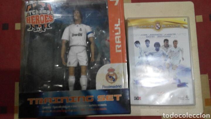REAL MADRID.FIGURA RAUL+DVD (Coleccionismo Deportivo - Merchandising y Mascotas - Futbol)