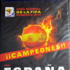Coleccionismo deportivo: DVD FINAL MUNDIAL FUTBOL 2010 ESPAÑA HOLANDA FIFA WORLD CUP SUDAFRICA. Lote 127179776