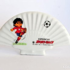 Coleccionismo deportivo: ABANICO DE CERAMICA SPORT BILLY MUNDIAL ESPAÑA 82. Lote 66199030