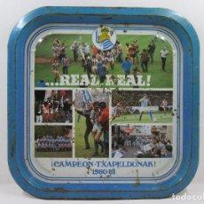 Coleccionismo deportivo: BANDEJA // REAL SOCIEDAD 1980-81 // REAL REAL /// CAMPEON -TXAPELDUNAK // FUTBOL. Lote 66319094