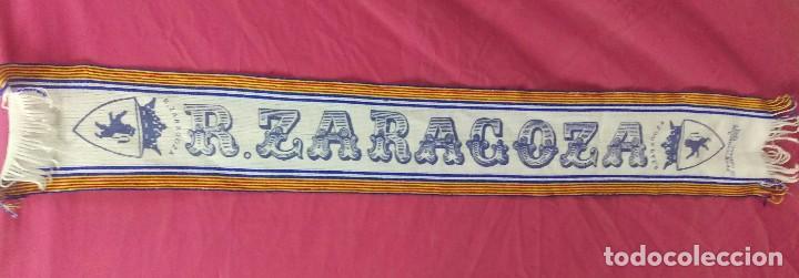 BUFANDA FUTBOL VINTAGE REAL ZARAGOZA.. ALFONSOJO (Coleccionismo Deportivo - Merchandising y Mascotas - Futbol)