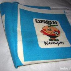 Coleccionismo deportivo: NARANJITO CORTE DE MANDIL DE TELA IMPRESA. Lote 68620325