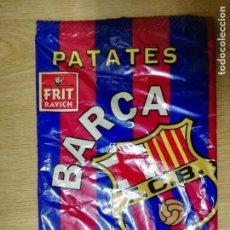 Coleccionismo deportivo: ANTIGUA BOLSA VACÍA DE PATATAS FRITAS BARÇA FUTBOL CLUB BARCELONA . Lote 69637677