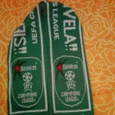 Coleccionismo deportivo: BUFANDA CERVEZA HEINEKEN UEFA CHAMPIONS LEAGUE (A). Lote 129610680