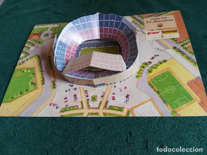 CARPETA DESPLEGABLE MAQUETA NOU CAMP BARÇA FUTBOL CLUB BARCELONA (Coleccionismo Deportivo - Merchandising y Mascotas - Futbol)