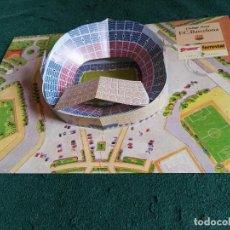 Coleccionismo deportivo: CARPETA DESPLEGABLE MAQUETA NOU CAMP BARÇA FUTBOL CLUB BARCELONA. Lote 70366213