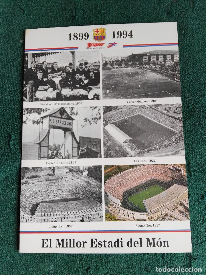 Coleccionismo deportivo: CARPETA DESPLEGABLE MAQUETA NOU CAMP BARÇA FUTBOL CLUB BARCELONA - Foto 2 - 70366213