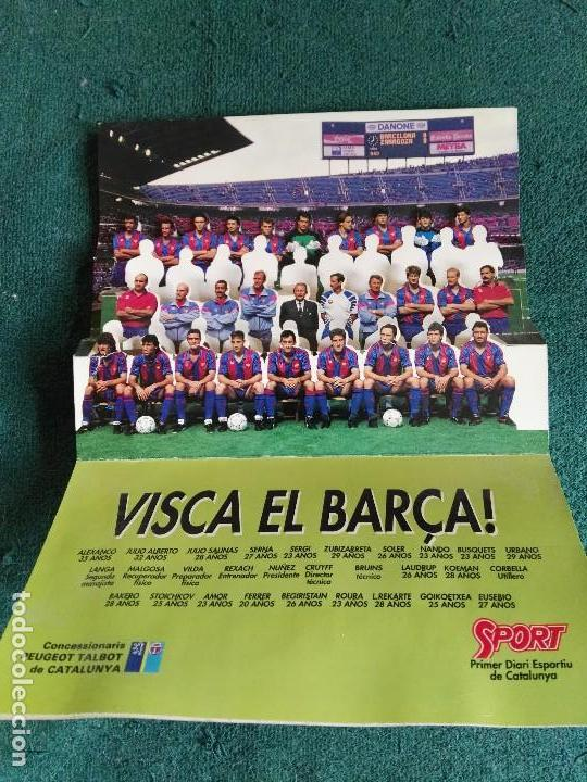 VISCA EL BARÇA CAMPEON LIGA 90 91 FUTBOL CLUB BARCELONA (Coleccionismo Deportivo - Merchandising y Mascotas - Futbol)