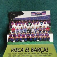 Coleccionismo deportivo: VISCA EL BARÇA CAMPEON LIGA 90 91 FUTBOL CLUB BARCELONA. Lote 70390929