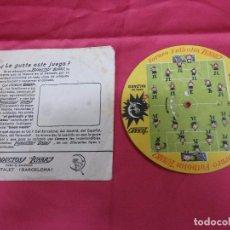 Coleccionismo deportivo: TORNEO FUTBOLIN LUNAR. 1954. PRODUCTOS LUNAR PARA CALZADO. CON SU SOBRE.. Lote 71602295