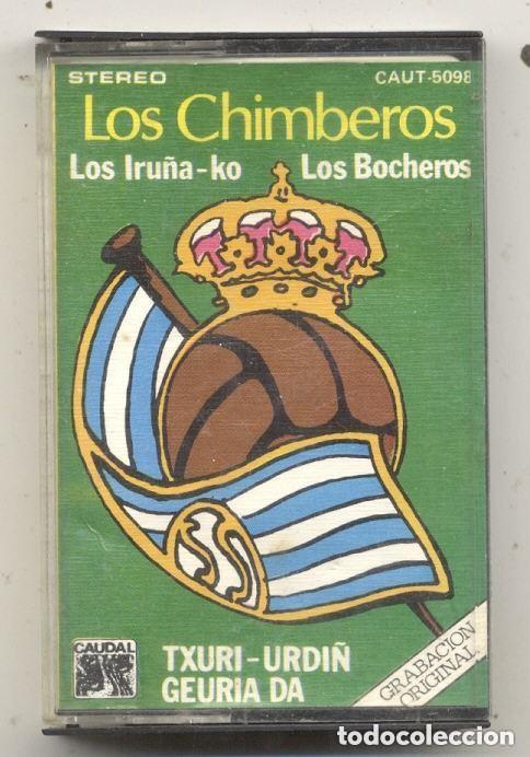 REAL SOCIEDAD TXURI URDIN / LOS CHIMBEROS CASETE FUTBOL SAN SEBASTIAN (Coleccionismo Deportivo - Merchandising y Mascotas - Futbol)