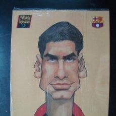 Coleccionismo deportivo: LAMINA CARICATURA GUARDIOLA, FUTBOL CLUB BARCELONA, BARÇA, EL MUNDO DEPORTIVO - CON CELOFAN. Lote 71732619