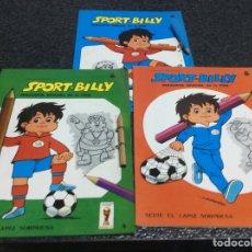 Coleccionismo deportivo: SPORT BILLY, . MASCOTA OFICIAL DE LA FIFA , LOTE 3 CUADERNOS PARA PINTAR - MUNDIAL 1982. Lote 55688577