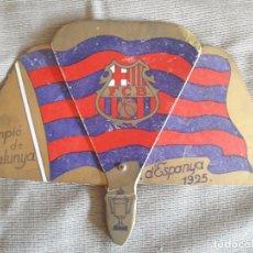 Coleccionismo deportivo: PAY PAY / ABANICO FUTBOL CLUB BARCELONA /1925/ CARTÓN PLEGABLE / CAMPIÓ D'ESPANYA / CON PUBLICIDAD. Lote 72847431