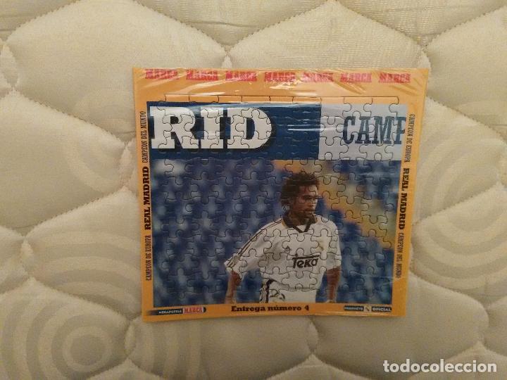 MEGA PUZZLE REAL MADRID 97-98, 98-99 CAMPEÓN EUROPA 1997-1998 Y DEL MUNDO 1998-1999 MARCA ENTREGA 4 (Coleccionismo Deportivo - Merchandising y Mascotas - Futbol)