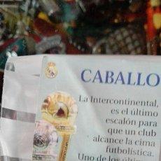 Coleccionismo deportivo: CABALLO REAL MADRID AS AJEDREZ. Lote 76258209