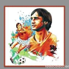 Coleccionismo deportivo: AZULEJO 20X20 DE JOHAN CRUYFF. Lote 76296295