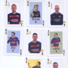 Coleccionismo deportivo: BARAJA ESPAÑOLA OFICIAL DEL F.C. BARCELONA. Lote 76793907