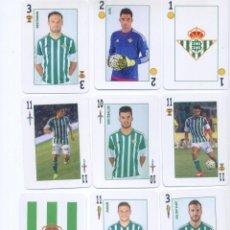 Coleccionismo deportivo: BARAJA ESPAÑOLA OFICIAL DEL REAL BETIS BALOMPIE. Lote 84381332