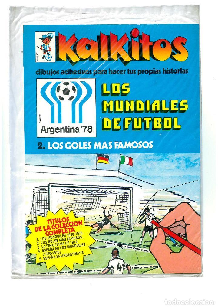 KALKITOS MUNDIAL FUTBOL ARGENTINA 78 FIFA WORLD CUP FOOTBALL GILLETTE ESPAÑOLA 1978 PRECINTADO (Coleccionismo Deportivo - Merchandising y Mascotas - Futbol)