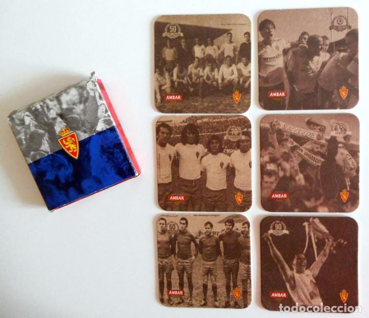 JUEGO POSAVASOS EDICION LIMITADA AMBAR REAL ZARAGOZA FUTBOL. COLECCION EN CAJA ORIGINAL!! CERVEZA (Coleccionismo Deportivo - Merchandising y Mascotas - Futbol)