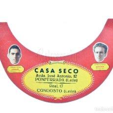 Coleccionismo deportivo: VISERA CASA SECO FUTBOLISTAS FC BARCELONA BASORA Y ARGILES AÑOS 50 PONFERRADA LEON. FUTBOL BARÇA. Lote 80218405