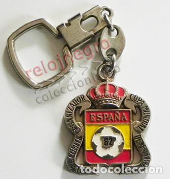 LLAVERO COPA MUNDIAL DE FÚTBOL ESPAÑA82 - REAL COMITÉ ORGANIZADOR - ESCUDO - ESPAÑA 82 DEPORTE 1982 (Coleccionismo Deportivo - Merchandising y Mascotas - Futbol)