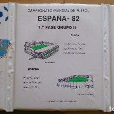 Coleccionismo deportivo: ALMOHADILLA FÚTBOL MUNDIAL 82 EL MOLINON . Lote 83129712