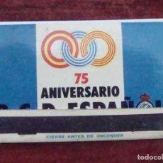 Coleccionismo deportivo: (TC-110) CAJA CERILLAS 75 ANIVERSARIO R. C. D. ESPAÑOL. Lote 83775016