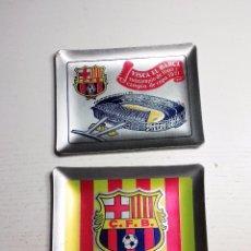 Coleccionismo deportivo: DOS CENICEROS FCB BARCELONA BARÇA METÁLICOS 1971. Lote 83934340