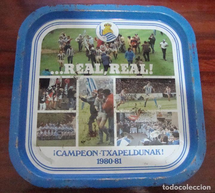 BANDEJA CAMPEON REAL SOCIEDAD 1980 81 VER FOTOS (Coleccionismo Deportivo - Merchandising y Mascotas - Futbol)