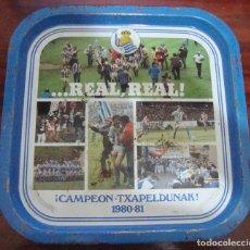 Coleccionismo deportivo: BANDEJA CAMPEON REAL SOCIEDAD 1980 81 VER FOTOS. Lote 84014436