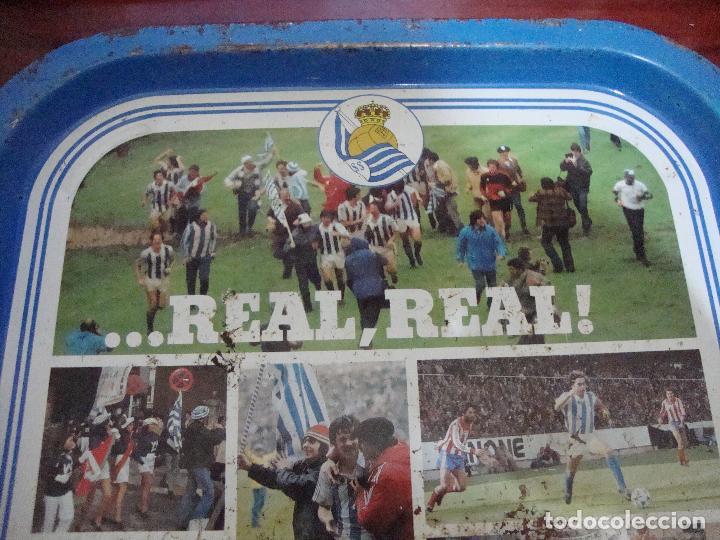 Coleccionismo deportivo: BANDEJA CAMPEON REAL SOCIEDAD 1980 81 VER FOTOS - Foto 2 - 84014436