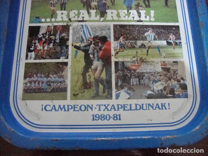 Coleccionismo deportivo: BANDEJA CAMPEON REAL SOCIEDAD 1980 81 VER FOTOS - Foto 3 - 84014436