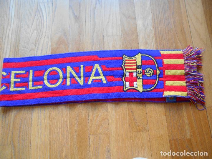 Coleccionismo deportivo: BUFANDA OFICIAL FUTBOL CLUB BARCELONA - Foto 2 - 84957360